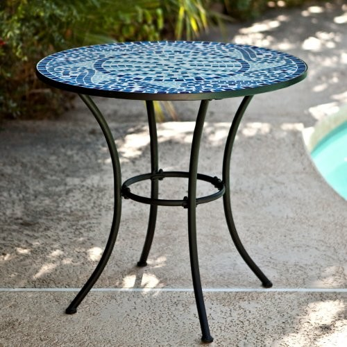 Marina Mosaic Bistro Table - Contemporary - Outdoor Dining Tables - by ...