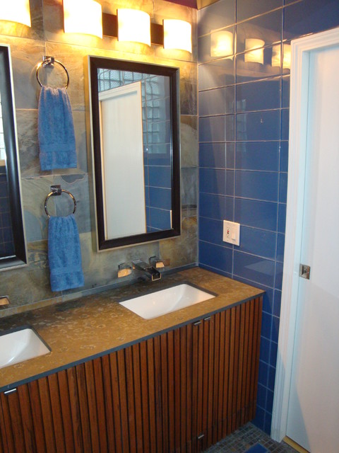Bucktown Couple's Master Bath eclectic-bathroom