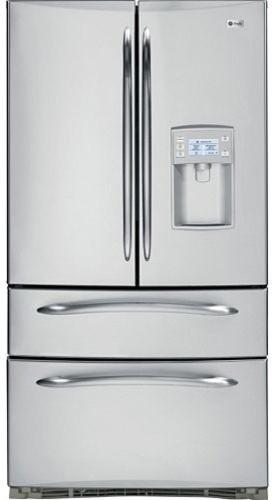 GE Profile French-Door Bottom Freezer Refrigerator contemporary-refrigerators-and-freezers