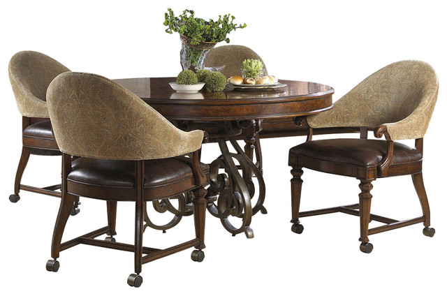 Highlands Round Game Table Traditional Dining Tables By Carolina Rustica