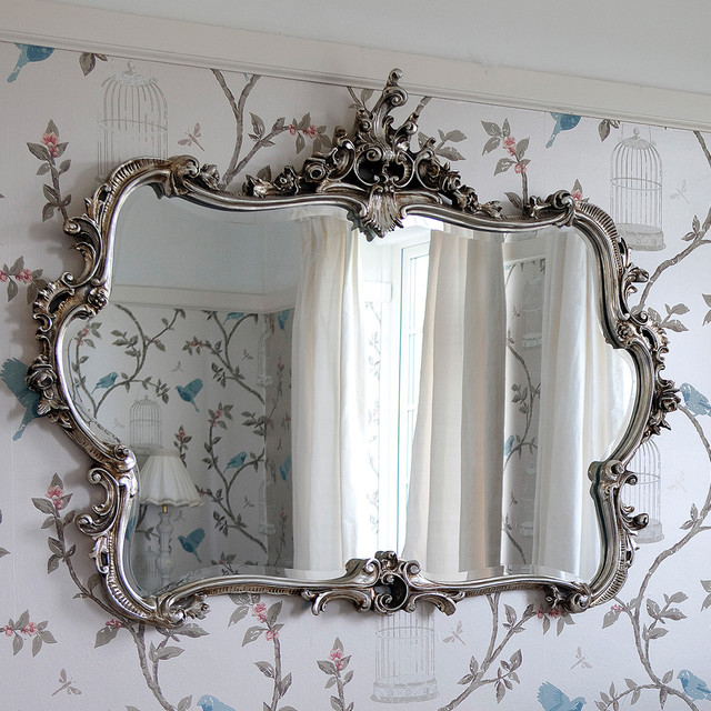 miss lala 39 s silver looking glass wall mirror wall mirrors
