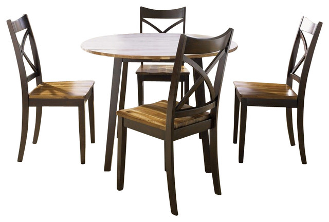 Liberty Furniture Cafe Collections Acacia 5 Piece 42 Inch Round Drop Leaf Din