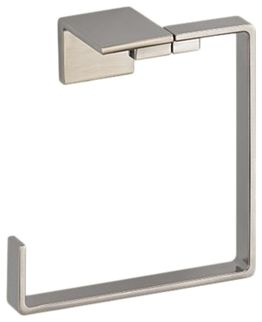 Delta 77746-SS Vero Towel Ring (Stainless) modern-towel-rings