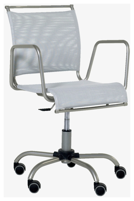 metal silver height adjustable office chair modern office chairs