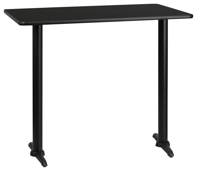 Flash Furniture 24 Inch x 42 Inch Rectangular Bar Table - Traditional ...