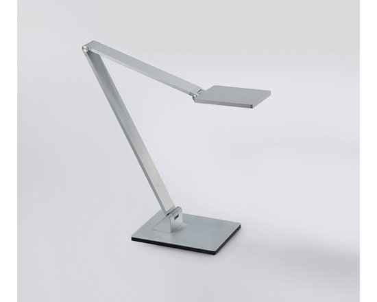 WAC Modern Forms - WAC Modern Forms | Boxie LED Table Lamp - Design by Modern Forms.Boxie is minimalism as an art form. The Boxie LED Table Lamp adjusts smoothly and easily with grace and sophistication while integrating an LED module and moveable arm. Dims with a fingertip touch dimmer. Available in brushed aluminum, black or Ferrari red finishes.