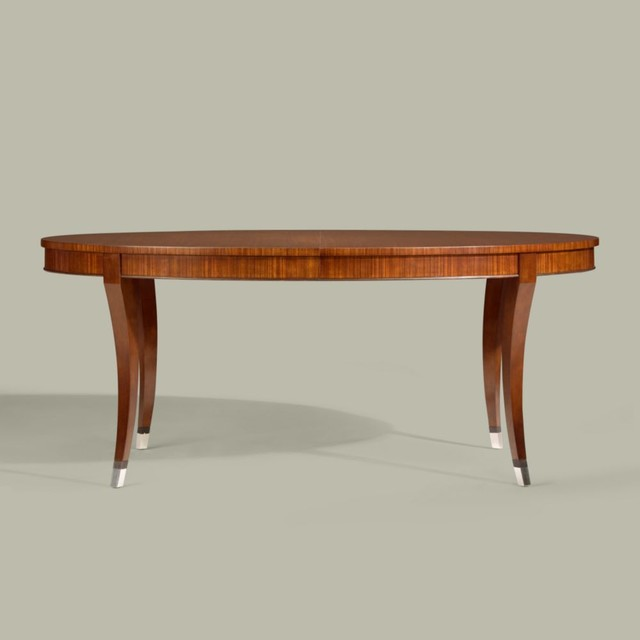 Modern Glamour Oval Dining Table Traditional Dining Tables By