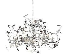 Possini Euro Design 18-Light Curly Ribbon Pendant contemporary-chandeliers