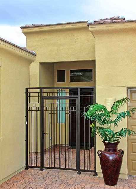 Abstract iron gate by first impression security doors for Door to gate kontakt