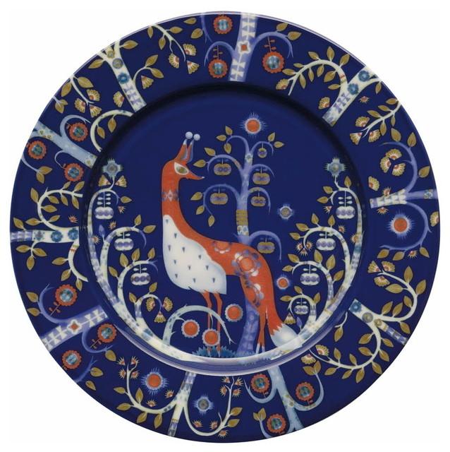 Taika Salad Plate, Blue traditional-plates