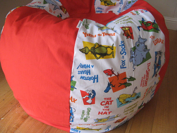 Dr. Seuss Characters Beanbag Chair Cover by Crakalaka eclectic kids chairs