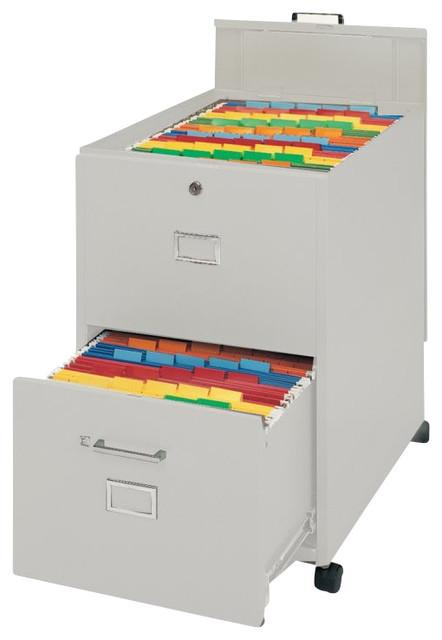 Mayline Mobilizer 2 Drawer Mobile Vertical Filing Cabinet in Sand - Transitional - Filing ...