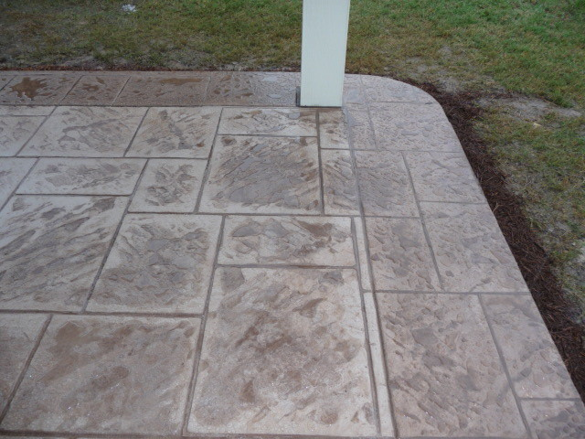 patio cover concrete flooring options traditional