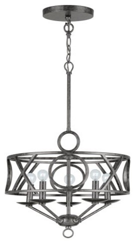Crystorama 9245-EB Odette Chandelier - 17W in. contemporary-chandeliers