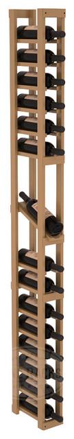 1 Column Display Row Cellar Kit in Pine with Oak Stain + Satin Finish traditional-wine-racks