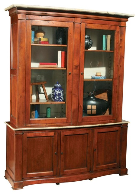 New Bowfront Cabinet/Hutch Solid Wood traditional-storage-units-and-cabinets