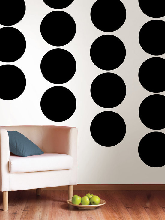"""Blackjack Dots Set of Wall Decals - What else can we say...it's black! This pack comes with twenty 13"""" Blackjack dots. All WallPops are repositionable and always removable."""