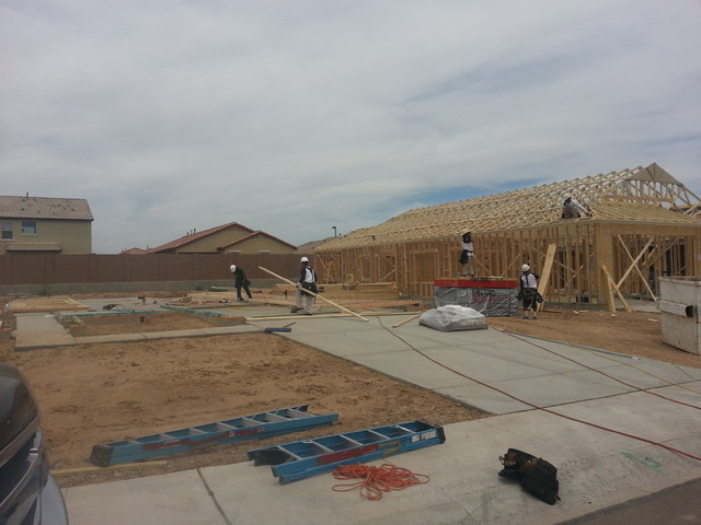 Production home framing traditional