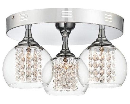 Possini Euro Encircled Crystal 15 1/2-Inches-W Ceiling Light -