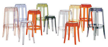 Kartell Charles Ghost Stool contemporary outdoor stools and benches