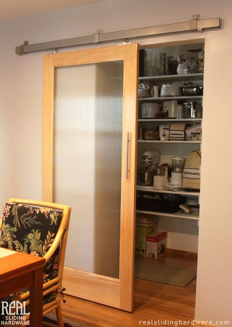 Barn Door Installations contemporary-kitchen