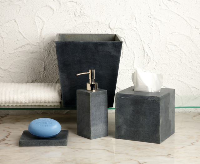 Bathroom accessories modern bathroom accessories for Grey bathroom accessories set