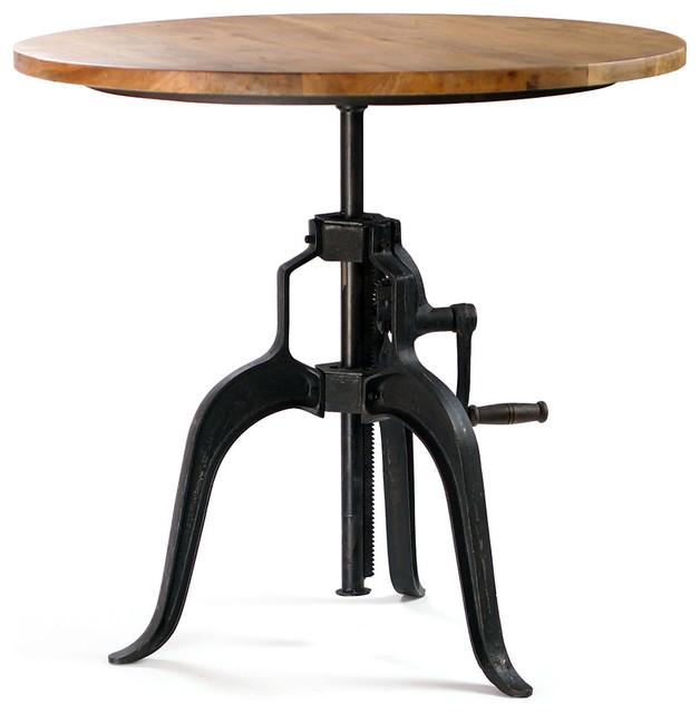 Carnegie industrial bar table wood top industriel table de bar et bistrot - Table bar industriel ...
