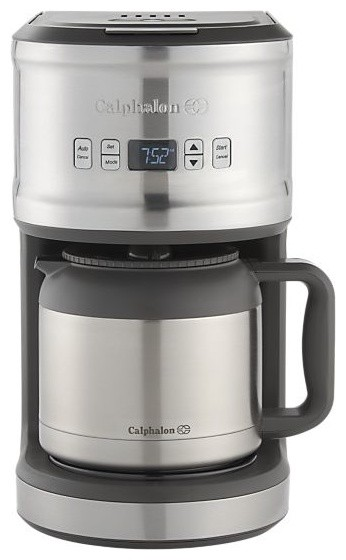 Calphalon Quick Brew Thermal Coffee Maker : Calphalon 10 Cup Thermal Coffee Maker - Modern - Coffee And Tea Makers - by Crate&Barrel