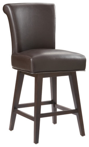 Hamlet Swivel Bonded Leather Stool modern-bar-stools-and-counter-stools