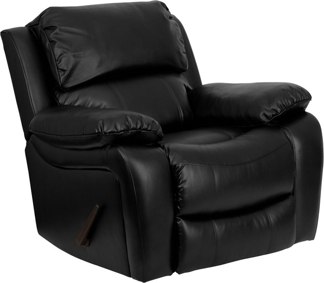 Flash Furniture Black Leather Rocker Recliner MEN DA3439