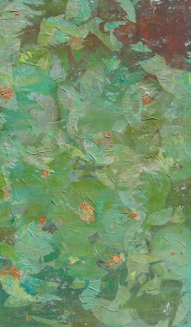 """Foliage"" Mixed Media Painting by Dana Washburn Hilty modern-artwork"