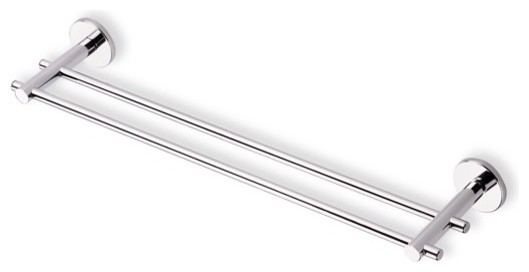 18 Inch Double Towel Bar Made in Brass, Chrome contemporary-towel-bars-and-hooks