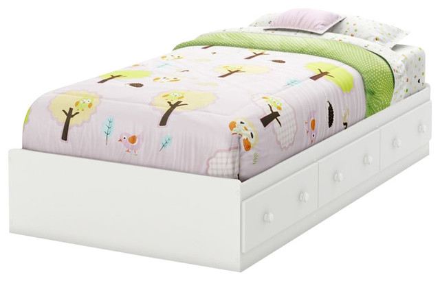 South Shore Handover Twin Bed in Pure White contemporary-kids-beds