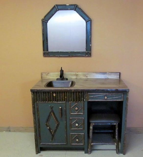 Adirondack make up vanity traditional bedroom makeup for Adirondack bathroom ideas