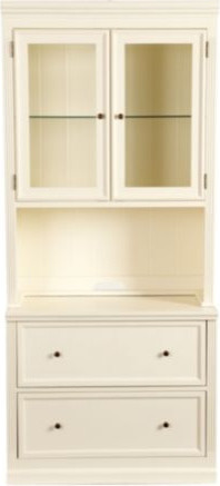 Tuscan Hutch with Lateral File Console - Farmhouse - China Cabinets And Hutches - by Ballard Designs
