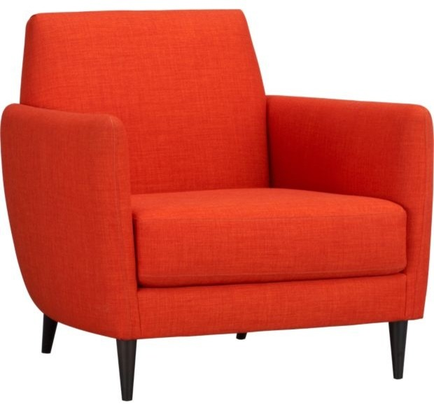 Parlour Tangerine Chair modern armchairs