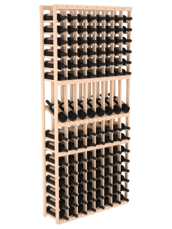 Wine Racks America - 8 Column Display Row Wine Cellar Kit in Pine, (Unstained) - Make 8 of your best vintages a focal point in your wine cellar. This display rack can store up to 11 wine cases. Features our industry exclusive solid display trays with high-reveal. Our wine cellar kits are designed to emphasize durability and elegance. You'll be satisfied. We guarantee it.
