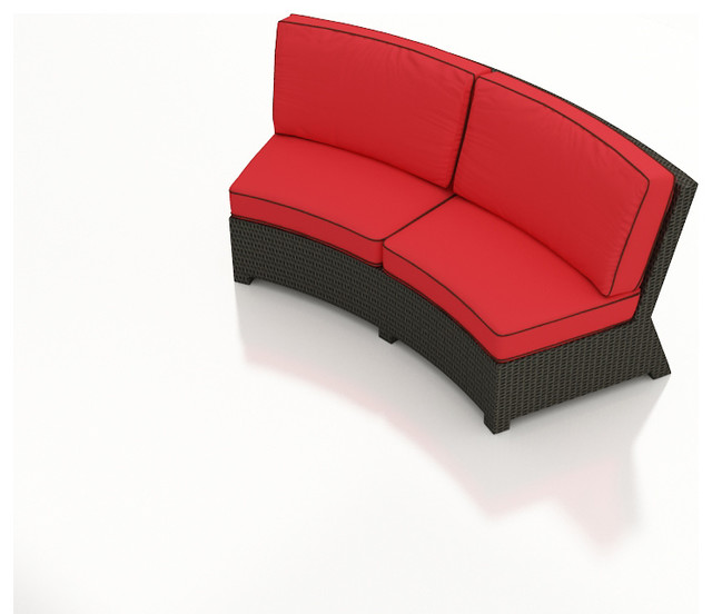 Barbados Curved Outdoor Sectional Sofa Flagship Ruby
