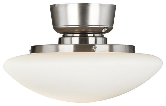 Contemporary Satin Nickel Light Blaster Pull Chain Ceiling Fan Light Kit contemporary-ceiling-fans