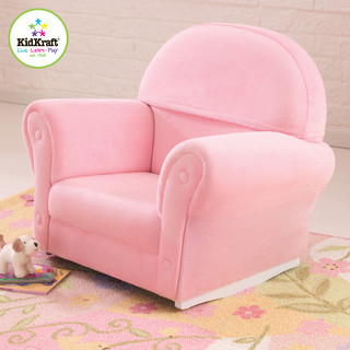 Kids rocker chair kidkraft upholstered rocker chair with slipcover in