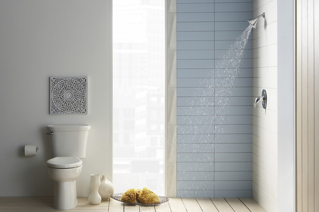American Standard T385.507.002 Polished Chrome Reliant Shower Trim Package with traditional-showerheads-and-body-sprays