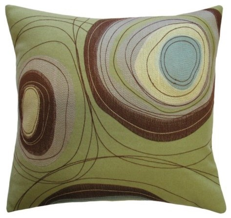 Koko Company Dune Circles Decorative Pillow contemporary pillows