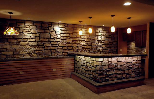 Brad Usher Basement Bar Project Rustic Basement Other Metro By Semco