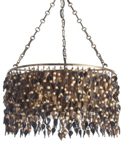 Leaves and Seeds Drum Pendant by Arteriors modern-pendant-lighting