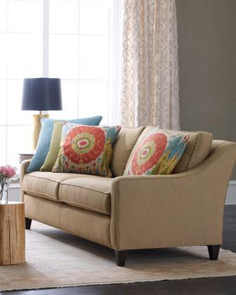 Massoud Picardy Pillow Sofa traditional-sofas