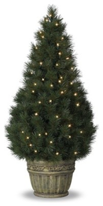Balsam Hill Potted White Pine Artificial Christmas Tree