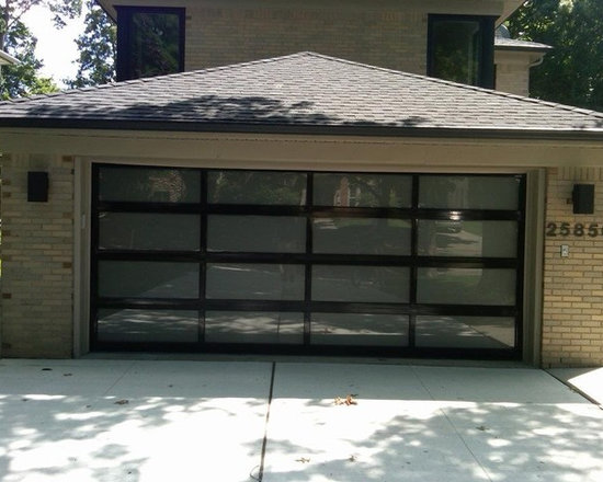 C.H.I. Overhead Doors - Full View Glass Garage Door - 16' x 7' C.H.I. Garage Door - Model: 3295(Full View Glass) - Glass Type: Frosted.  Garage Door installed by Premier Door a Service of Detroit in Huntington Woods, Michigan.