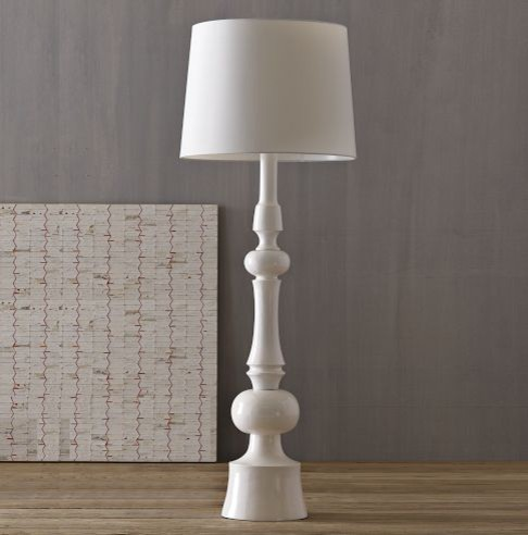 Turned Floor Lamp modern floor lamps