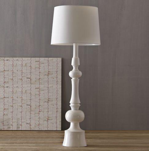 Turned Floor Lamp modern-floor-lamps
