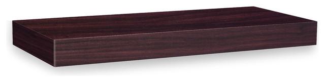 "Way Basics zBoard Wall Shelf 24"", Espresso modern-display-and-wall-shelves"